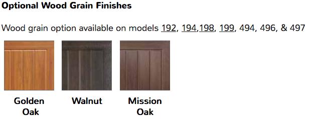 mahogany stained garage door